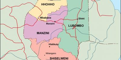 Swaziland Kangwane Eswatini Hartă Hărți Swaziland Kangwane
